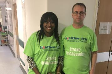 Two Healthwatch Stroke Ambassadors