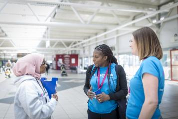 Healthwatch staff and volunteers doing outreach in Bradford