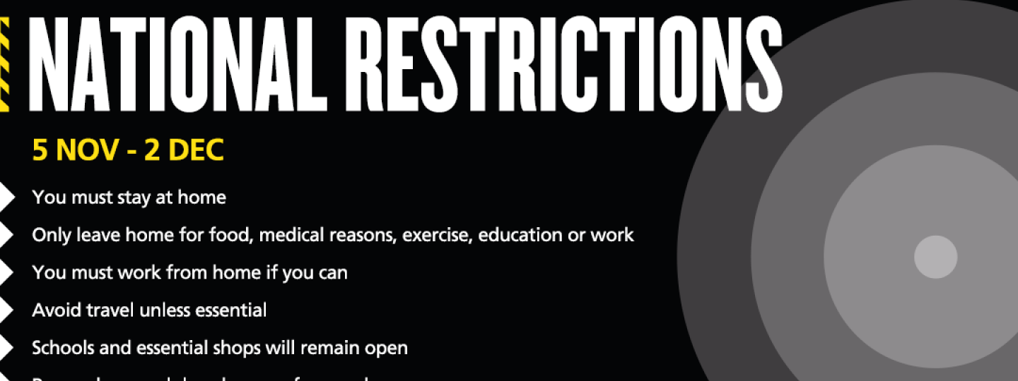National COVID-19 restrictions from 5th November